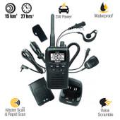 Uniden 5 Watt UHF Waterproof CB Handheld Radio - 80 Channel - Range Extender Duplex Capability