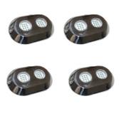 4 x 120 Watt RGB Underwater LED Boat lights S/Steel Flush mount + Controller NEW