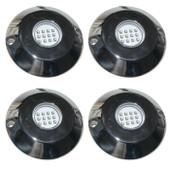 4 x 60 Watt RGB Underwater LED Boat lights S/Steel Flush mount + Controller NEW