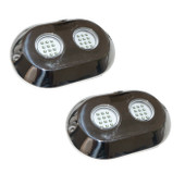 2 x 120 Watt BLUE Colour Underwater LED Boat lights S/Steel Flush mount Bright