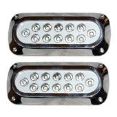 2 x 36W Underwater LED Boat Lights - Rectangle Design