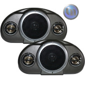 AXIS Compact 120W 3-Way Box Speakers Black/Silver