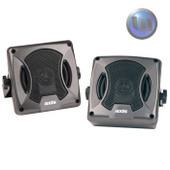 Compact Satellite Speakers 80W 2-Way Box External Surface Roof Mount