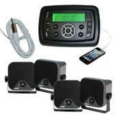 Marine Boat MP3/AM/FM/USB/Ipod Player + 4x Speakers + Antenna Bluetooth