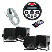 Marine Stereo Boat Audio Kit MP3/USB/FM/AUX/Ipod Radio + 4 Speakers + Ant