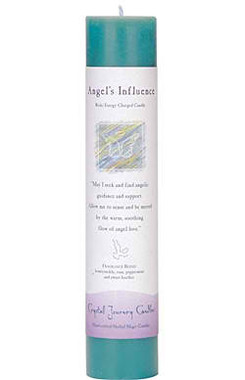 Angel's Influence - Crystal Journey Herbal Magic Pillar Candle
