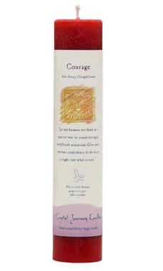 Courage - Crystal Journey Herbal Magic Pillar Candle