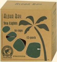 Green Eco Palm Wax Tea Lights