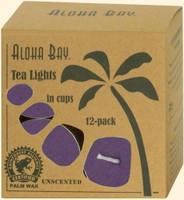 Violet Eco Palm Wax Tea Lights