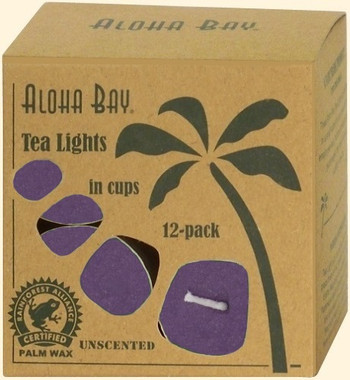Violet Eco Palm Wax Tea Lights