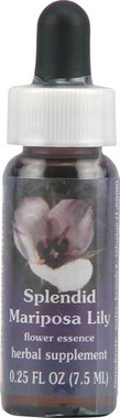Flower Essence Range of Light Splendid Mariposa Lily Supplement Dropper -- 0.25 fl oz