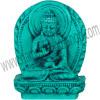 Mini Turquoise Powder Figurine Amoghasiddhi Buddha