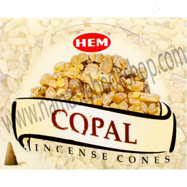 Hem Incense Cones in Display Box 10 cones Copal