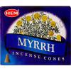 Hem Incense Cones in Display Box 10 cones Myrrh