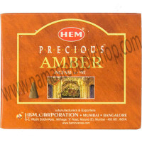 Hem Incense Cones in Display Box 10 cones Precious Amber