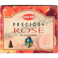Hem Incense Cones in Display Box 10 cones Precious Rose