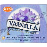 Hem Incense Cones in Display Box 10 cones Vanilla