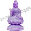 Frosted Acrylic Feng Shui Figurines Meditating Kwan Yin