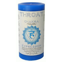 Throat Chakra Candle 3 inch x 6 inch Pillar