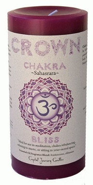 """Crown Chakra Candle 3"""" x 6"""" Pillar - For Bliss"""