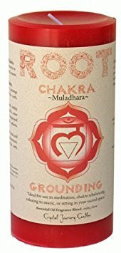 """Root Chakra Candle 3"""" x 6"""" Pillar - For Grounding"""