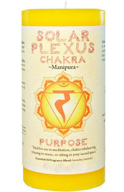 "Solar Plexus Candle 3"" x 6"" Pillar - For Purpose"