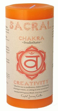 "Sacral Candle 3"" x 6"" Pillar - For Creativity"
