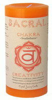 "Sacral Candle 3"" x 6"" Pillar - For Creativity"