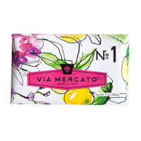 Via Mercato No.1 - Bergamot, Patchouli & Rosewood Soap