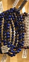1 Lapis Lazuli and Smoky Quartz Stretch Bead Bracelet 4mm NOTE: Stock image you will receive a similar bracelet.