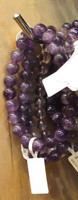 1 Amethyst Stretch Bead Bracelet 8mm NOTE: Stock image you will receive a similar bracelet.