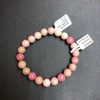 1 Rhodonite Stretch Bead Bracelet 8mm  NOTE: Stock image you will receive a similar bracelet.
