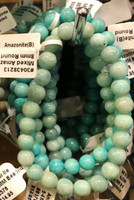 1 Amazonite Stretch Bead Bracelet 6-8mm NOTE: Stock image you will receive a similar bracelet.