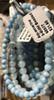 1 Aquamarine Stretch Bead Bracelet 5-8mm NOTE: Stock image you will receive a similar bracelet.
