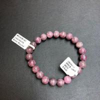 1 Lepidolite Stretch Bead Bracelet 8mm  NOTE: Stock image you will receive a similar bracelet.