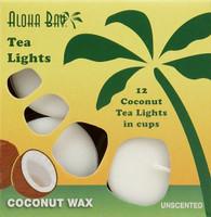 Coconut Tea Lights - White