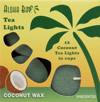 Coconut Tea Lights - Green