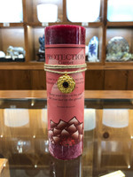 Protection - Garnet Gold Lotus Inspiration Candle