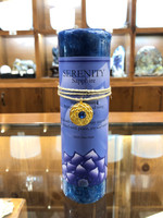 Serenity - Sapphire Gold Lotus Inspiration Candle