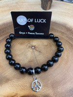 Art of Luck Onyx Bead Bracelet - Peace & Success