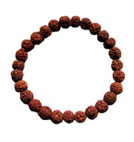 Rudraksha 8 mm 27 Beads Wrist Mala WITH TASSEL