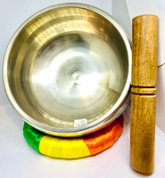 Silver Plated Plain- Brass Singing Bowl