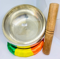 Silver Plated Plain- Brass Singing Bowl (Large)