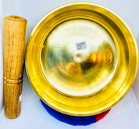 Plain Flat Brass Singing Bowl -Large