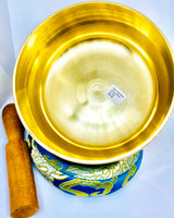 Plain Flat Brass Singing Bowl -Medium