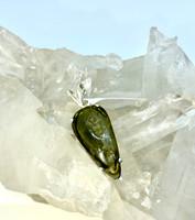 Moldavite Sterling Silver Pendant(30)