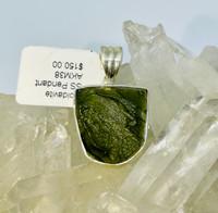 Moldavite Sterling Silver Pendant(38)