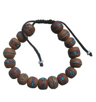 Decorated Bodhi Beads Wrist Mala 13 mm