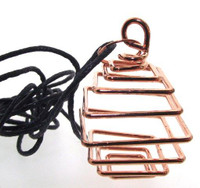 Copper Square Cage Pendant with Cord