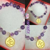 Om Violet Fluorite bracelet